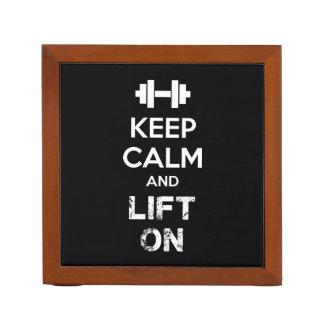 Keep Calm and Lift On - Workout Motivational Desk Organizer