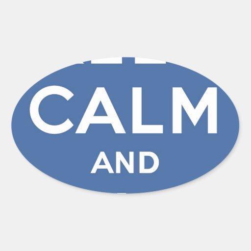 Keep Calm And Like Me Thumbs Up Carry On Sticker