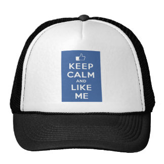 Keep Calm And Like Me Thumbs Up Carry On Trucker Hat
