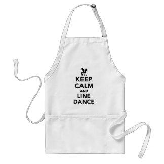 Keep calm and line dance standard apron