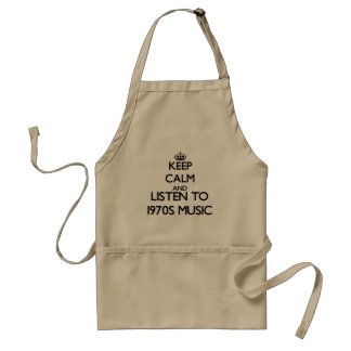 Keep calm and listen to 1970S MUSIC Apron