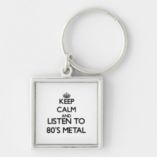 Keep calm and listen to 80 S METAL Keychain
