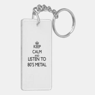 Keep calm and listen to 80 S METAL Acrylic Keychain