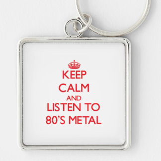 Keep calm and listen to 80'S METAL Keychains