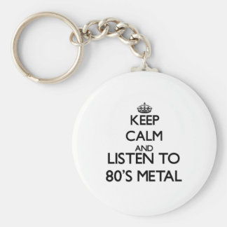 Keep calm and listen to 80'S METAL Key Chain