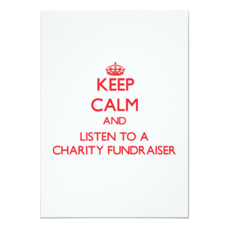 Keep Calm and Listen to a Charity Fundraiser Custom Invitations