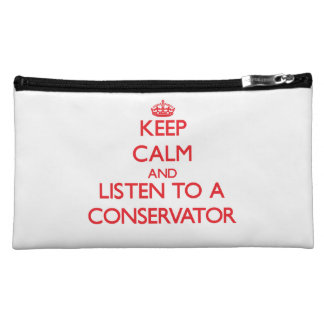 Keep Calm and Listen to a Conservator Makeup Bags