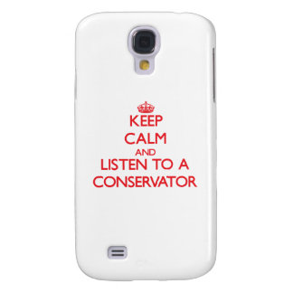 Keep Calm and Listen to a Conservator HTC Vivid Cover