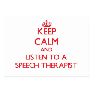 Keep Calm and Listen to a Speech arapist Pack Of Chubby Business Cards