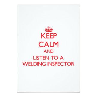 "Keep Calm and Listen to a Welding Inspector 5"" X 7"" Invitation Card"