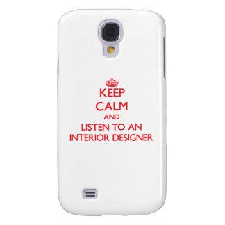 Keep Calm and Listen to an Interior Designer HTC Vivid Case