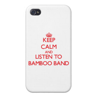Keep calm and listen to BAMBOO BAND iPhone 4/4S Cases