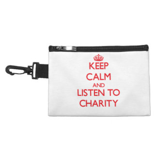 Keep Calm and listen to Charity Accessory Bag