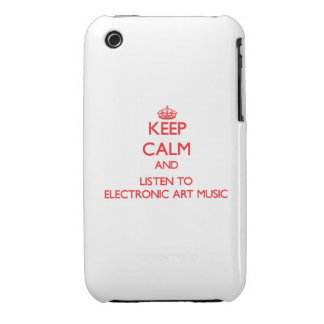 Keep calm and listen to ELECTRONIC ART MUSIC iPhone 3 Cover