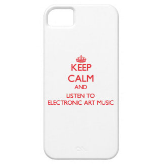 Keep calm and listen to ELECTRONIC ART MUSIC iPhone 5 Cases
