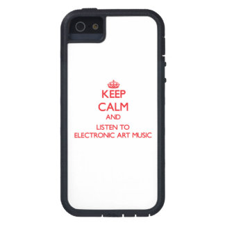 Keep calm and listen to ELECTRONIC ART MUSIC Cover For iPhone 5