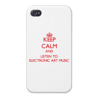 Keep calm and listen to ELECTRONIC ART MUSIC iPhone 4 Case