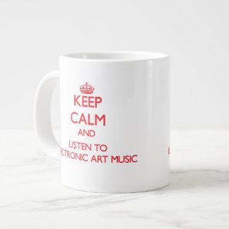 Keep calm and listen to ELECTRONIC ART MUSIC Jumbo Mug