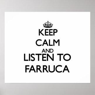 Keep calm and listen to FARRUCA Print