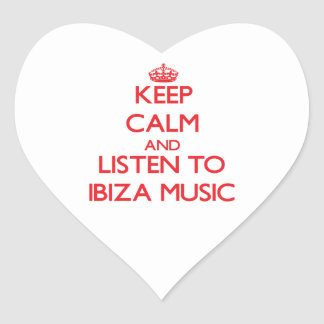 Keep calm and listen to IBIZA MUSIC Stickers