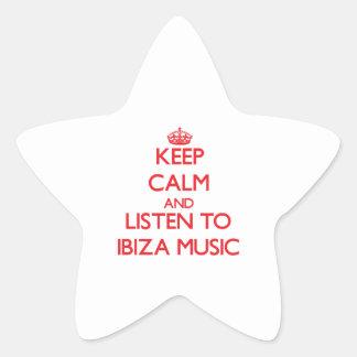 Keep calm and listen to IBIZA MUSIC Star Sticker