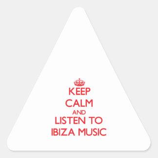 Keep calm and listen to IBIZA MUSIC Sticker