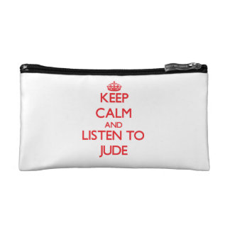 Keep Calm and Listen to Jude Cosmetics Bags