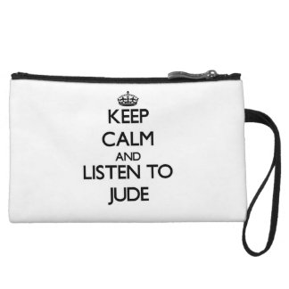 Keep Calm and Listen to Jude Wristlet
