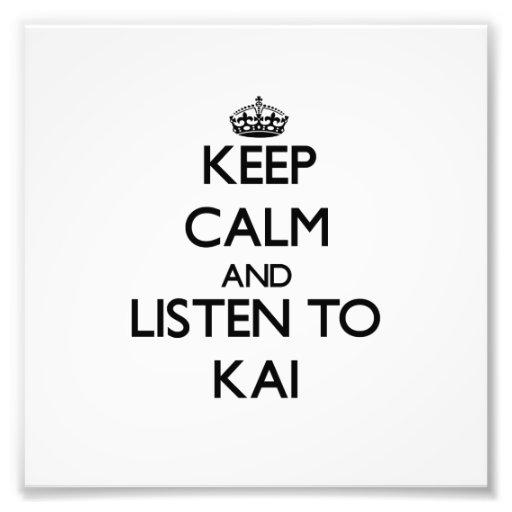 Keep Calm and Listen to Kai Photo
