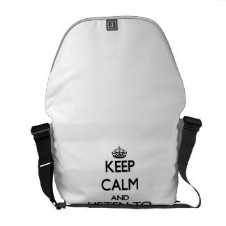 Keep calm and Listen to Kirkland Courier Bags