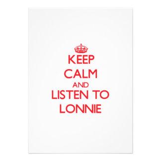 Keep Calm and Listen to Lonnie Invite