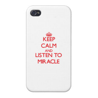 Keep Calm and listen to Miracle iPhone 4/4S Cover