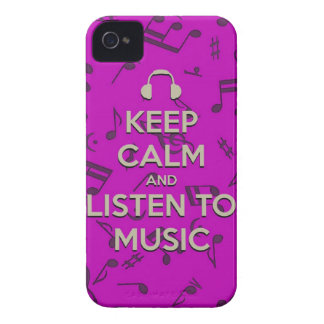 keep calm and listen to music phone case