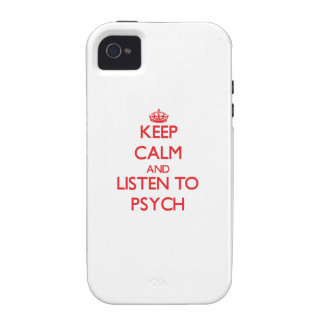 Keep calm and listen to PSYCH Vibe iPhone 4 Cover