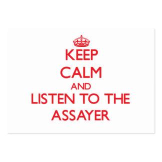 Keep Calm and Listen to the Assayer Business Card Template