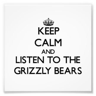 Keep calm and Listen to the Grizzly Bears Photo Print