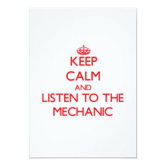 Keep Calm and Listen to the Mechanic Personalized Announcements