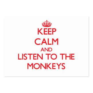 Keep calm and listen to the Monkeys Business Card Template
