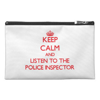 Keep Calm and Listen to the Police Inspector Travel Accessories Bag