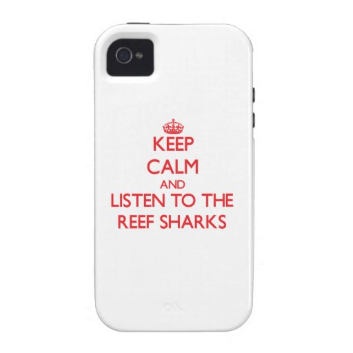 Keep calm and listen to the Reef Sharks Case-Mate iPhone 4 Covers