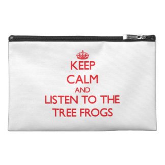 Keep calm and listen to the Tree Frogs Travel Accessory Bag