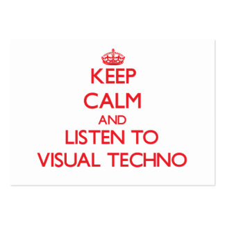 Keep calm and listen to VISUAL TECHNO Business Card