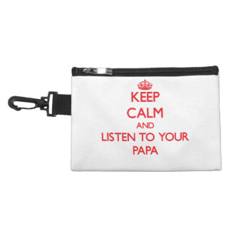 Keep Calm and Listen to your Papa Accessory Bag