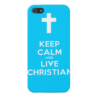 Keep Calm and Live Christian iPhone 5 Cover