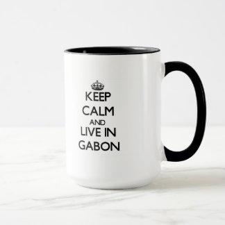 Keep Calm and Live In Gabon Mug