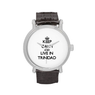 Keep Calm and Live In Trinidad Wristwatch