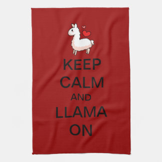 Keep Calm and Llama On Kitchen Towel