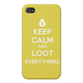 keep calm and loot everything! iphone 4/4s case