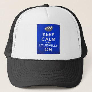 Keep Calm and Louisville On, Louisville, Colorado Trucker Hat
