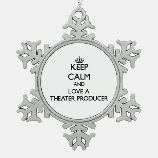 Keep Calm and Love a aater Producer Ornaments